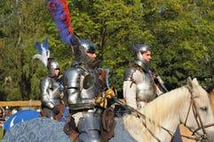 Schoss Ehre nach mittelalterlichem Turnier Stockfotografie