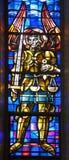 Brüssel - Erzengel Michael von nationalem Basi Stockbilder