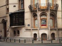 Brüssel-Gebäude in der Kunst Nouveau Art stockbild