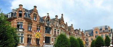 Brüssel-Häuser stockbilder