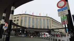 Brüssel-Hauptbahnhofseingang Stockbilder