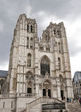 Brüssel-Kathedrale Stockfoto