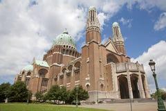 Brüssel - nationale Basilika des heiligen Inneren Lizenzfreies Stockbild