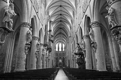 Brüssel - Nave der Kathedrale des Heiligen Michael Lizenzfreie Stockfotografie
