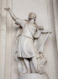 Brüssel - Statue des Königs David Stockbild