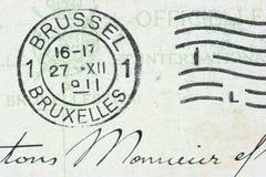 Brüssel-Stempel Lizenzfreie Stockfotografie