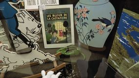 Brüssels, Belgien Moof komisches Museums Eingangsatrium vor stock video