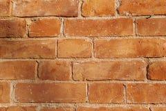 Brąz ściana z cegieł plenerowa fotografia stock