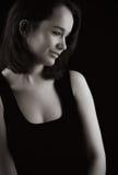 brąz dama delikatna z włosami Zdjęcie Stock