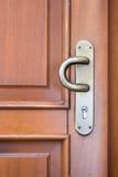 brąz drewno zamknięty drzwiowy Obrazy Stock