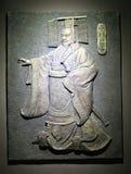 Brąz rzeźbi qin shihuang (pierwszy cesarz qin) Obraz Royalty Free