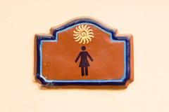 brąz wchodzić do pastylki toalety kobiety Fotografia Royalty Free
