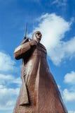 Brązowa żołnierz statua Obrazy Stock