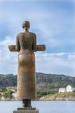 Brązowa kobiety rzeźba, Bodo Zdjęcia Stock