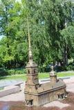 Brązowa kopia budynek Peter i Paul forteca w St Petersburg blisko Gorkovskaya stacji metrej fotografia royalty free