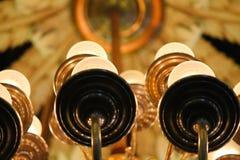 Brązowa oprawa oświetleniowa Fotografia Stock