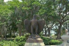 Brązowa orzeł statua Fotografia Royalty Free