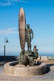 Brązowa rzeźba w imperiał plaży, Kalifornia Zdjęcie Stock