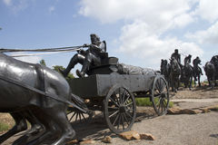 Brązowa rzeźba w Oklahoma obrazy royalty free