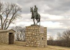 Brązowa rzeźba wola Rogers na horseback, Claremore, Oklahoma obrazy stock