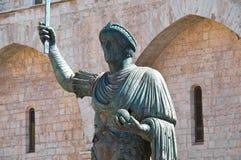 Brązowa statua Barletta Puglia Włochy zdjęcia royalty free