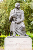Brązowa statua Nikolai Vasilievich Gogol w willi Borghese normie Obraz Royalty Free