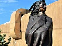 Brązowa statua rodowity amerykanin obrazy royalty free