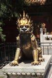 Brązowa statua smok w Niedozwolonym mieście Fotografia Royalty Free