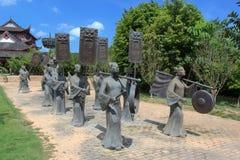 Brązowa statua utrzymanie cisza zdjęcia royalty free