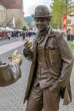 Brązowa statua w Alba Iulia, Rumunia obraz royalty free