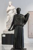 Brązowa statua w Naples Krajowym Archeologicznym muzeum, Włochy Obraz Royalty Free