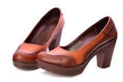 brązowe buty fotografia stock
