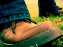 brązowe buty. Obraz Stock