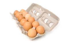 brązowe jajka zdjęcie royalty free