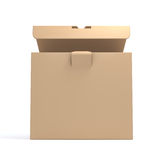 brązowe pudełko karton Fotografia Royalty Free
