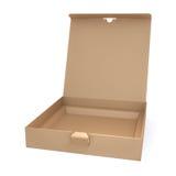 brązowe pudełko karton Obrazy Royalty Free