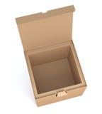brązowe pudełko karton Obraz Stock