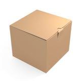 brązowe pudełko karton Fotografia Stock
