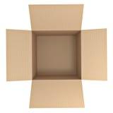 brązowe pudełko karton Zdjęcia Stock