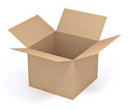 brązowe pudełko karton Obrazy Stock