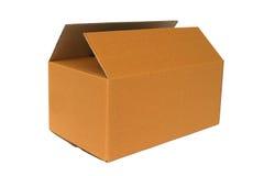 brązowe pudełko karton Zdjęcie Stock