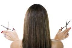 brązowe włosy Fotografia Royalty Free