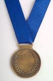 brązowego medalu błękitny faborek Obrazy Royalty Free