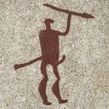 Brązowego wieka mężczyzna cyzelowanie Obrazy Royalty Free
