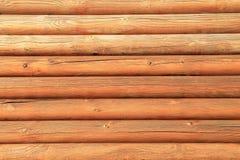 Brązowić drewnianą ścianę, tło Zdjęcia Royalty Free