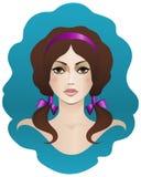Brązowowłosy z brown oczami Fotografia Royalty Free