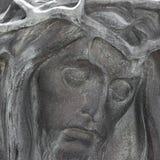 Brązowy barelief Chrystus zdjęcia royalty free