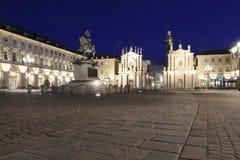 brązowy Carlo koński San kwadratowy Turin Zdjęcia Stock