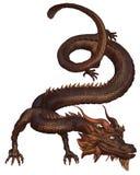 brązowy chiński smok royalty ilustracja
