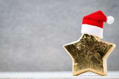 Brązowy gwiazdowy und Santa kapelusz Boże Narodzenie wzór Tło na Obraz Stock